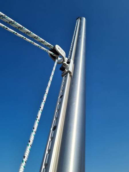 Edelstahlmast höhenverstellbar - DELUXE 60x3 - 3m