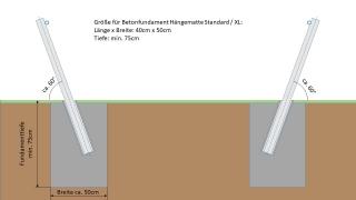 Edelstahlmast für Hängematte - XL