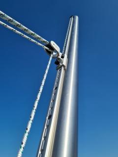 Edelstahlmast für Sonnensegel - DELUXE 80x3 - 150cm