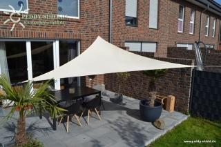 Dreiecksonnensegel 360cm - Polyester - elfenbein