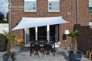 Vierecksonnensegel 250 x 300cm - Polyester - hell silbergrau