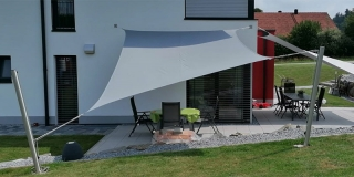 Sonnensegelanlage RECHTECK - Comfort